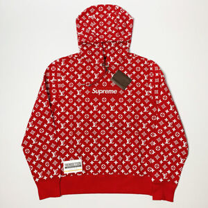 Détails sur Louis Vuitton Supreme Box Logo Sweat à capuche 100% Authentique  Monogramme M Medium LV 1A3FBU, afficher le titre d\u0027origine