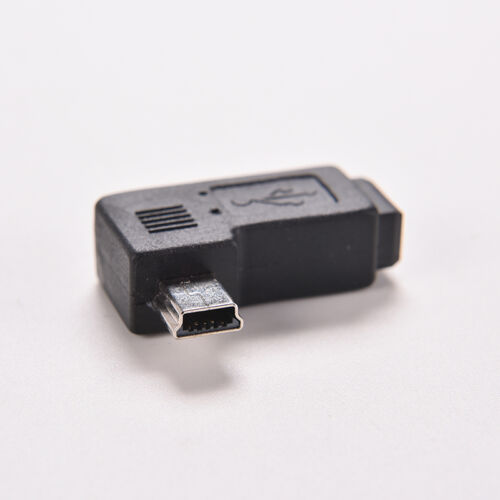 USB 2.0 Mini 5 Pin Male to Female Right Angle 90 Degree Adapter Connector EC