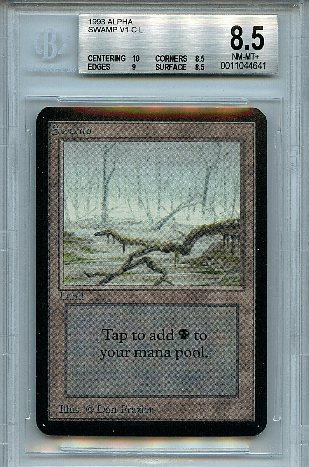 MTG Alpha Swamp V2 A BGS 8.5 NM MT+ Magic Land Card 10 Centering 4641