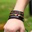 Fashion-Men-Women-Handmade-Genuine-Leather-Bracelet-Braided-Bangle-Wristband-Set miniatura 17