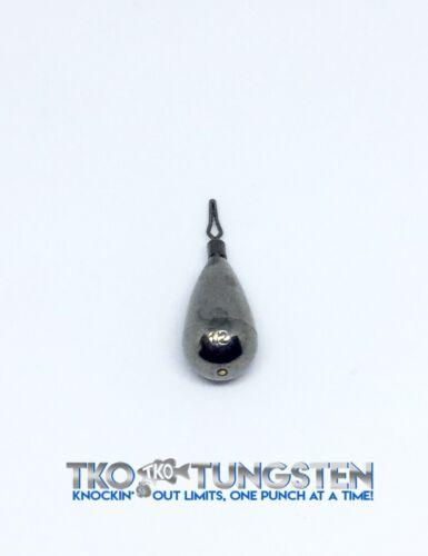 FAST Shipper 6 sizes TKO Tungsten Drop shot weights Finesse, TearDrop /& Round
