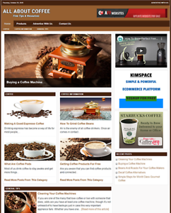 COFFEE Tips Website Business For Sale - Work From Home Business Opportunity