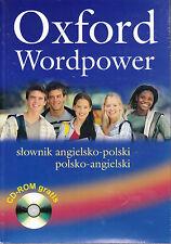 OXFORD WORDPOWER DICTIONARY POLISH-ENGLISH Angielsko-Polski with CD-ROM @NEW