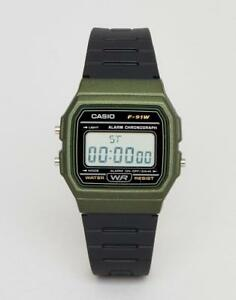 921572c4ebec Reloj CASIO digital F-91WM-3A 100% original reloj de pulsera RETRO ...
