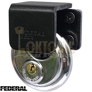 Federal-High-Security-Shed-Van-Door-Gate-Lock-Bracket-Hasp-Staple-Padlock-Combo
