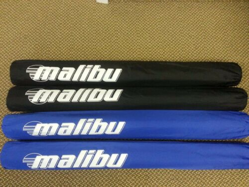 "36"" Malibu 2 38"" Trailer Guide Boat Pads PVC Post Covers Sold in Pairs Black"