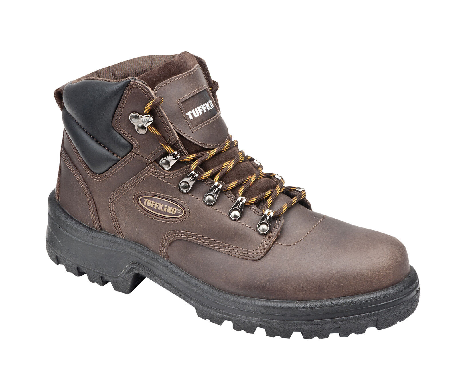 Tuffking 7122 S3 Waxy Brown Steel Toe Cap Hiker Style Safety Boots Work Boot PPE