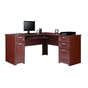 "Contemporary L-Shaped Computer Desk - Classic Cherry 30""H x 58 3/4""W x"
