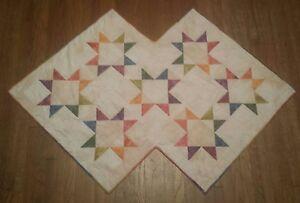 Tablerunner-Bright-Rainbow-Stars-35-x-50-Mulit-Colored-Hand-dyed-Fabrics