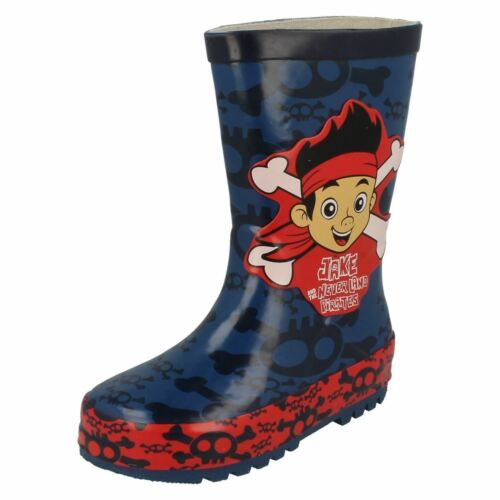 Jake And The Neverland Pirates Boys Disney Crossbone Classic Wellington Boots