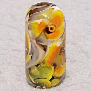 FLORADORA-Handmade-Art-Glass-Focal-Bead-Flaming-Fools-Lampwork-Art-Glass-SRA