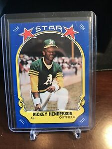 1981 FLEER STAR STICKERS #54 RICKEY HENDERSON NM A's - HOF  COMBINE SHIP