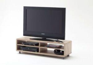 TV-Board Jeff, TV-Unterteil, Lowboard, TV Möbel, Weiss, Sonoma ...