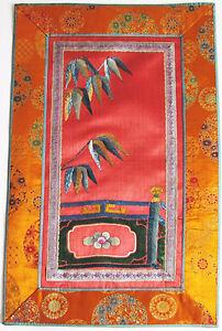 China-antike-Stickerei-Seide-antique-chinese-silk-gold-embroidery