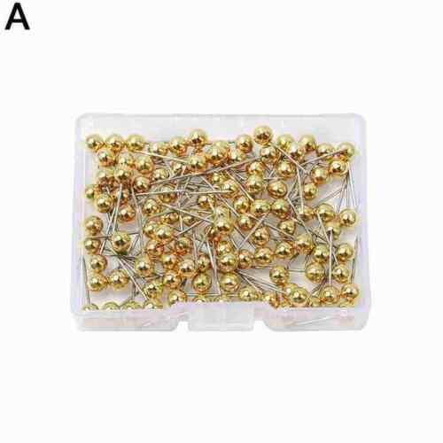Push Pin Round Plastic Head Metal Point Push Pins Card Tacks School Thumb Z8T9