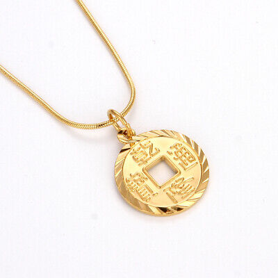 18K Coin Cross Necklace in 18K Gold Filled