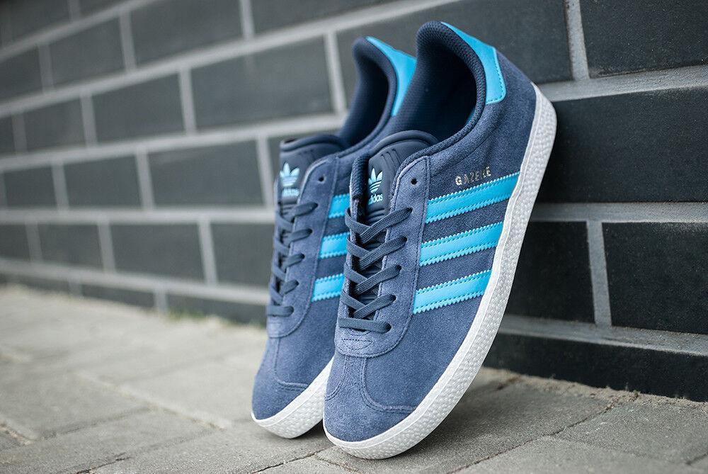 NUOVO Adidas Originals Gazelle bb2504 Bambini Da Donna scarpe da ginnastica Scarpe da ginnastica Blu blu