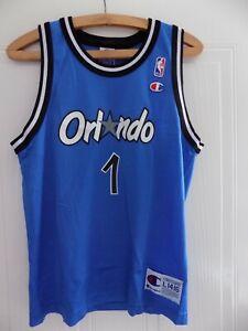 low priced 7b2ec 8bb01 Details about RETRO Penny Hardaway Champion 90s RARE Basketball NBA Orlando  Magic Jersey Shirt