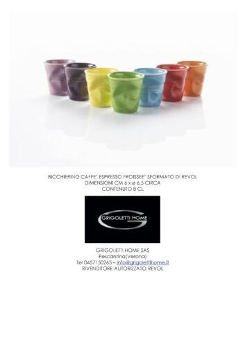 h 6 cm Revol Dealer Shot Coffee Froisse Various Colors 8 Cl