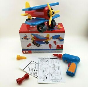 Battat  Take-Apart Airplane  Toy vehicle assembly playset with functional bat...
