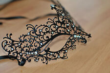Venetian Style Metal Mask Filigree Masquerade  Diamante Ball. Prom. Fancy dress.