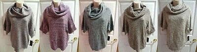 FEVER Casual Cowl Sweater Many Colors Womens S M L Small Medium Large XL $78 NWT