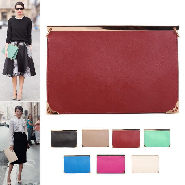 NEW Korea Women Oversized Envelope Purse Clutch Shoulder Bag Purse