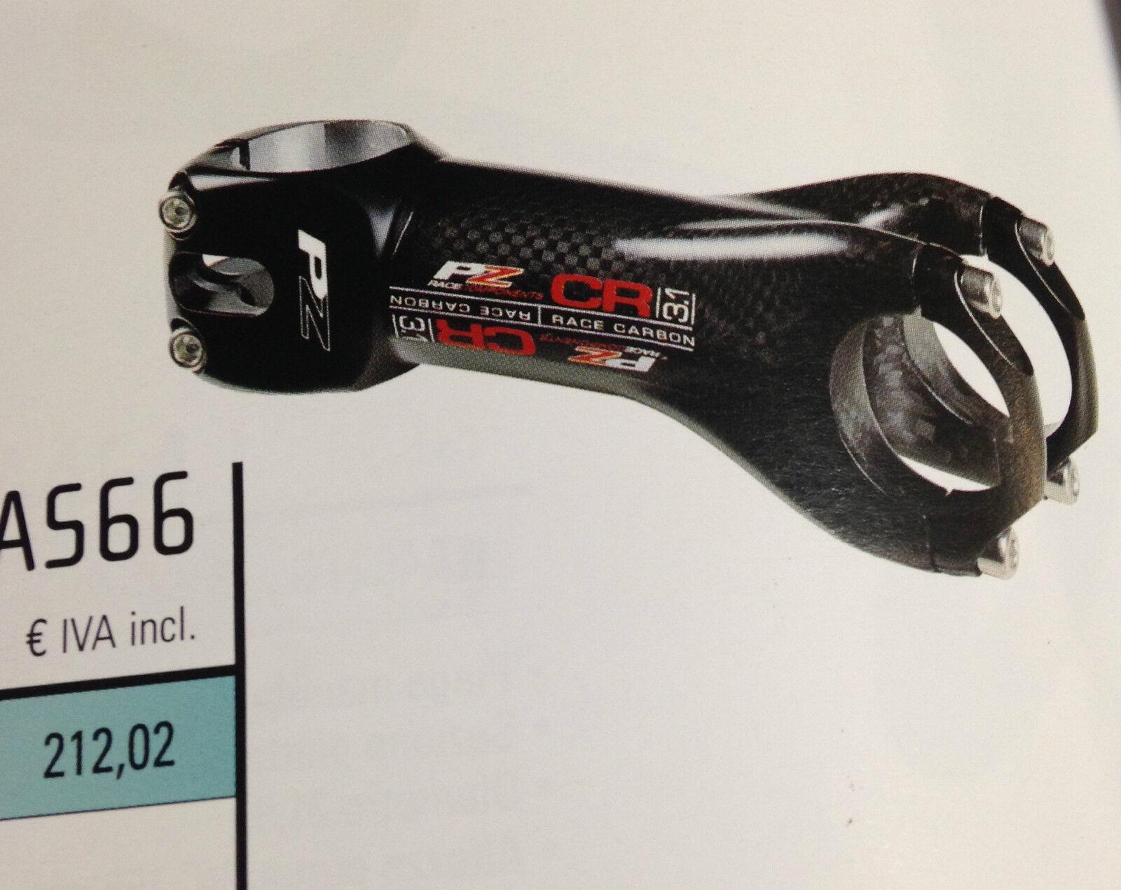Attacco manubrio bici corsa PZ CR 3.1 carbonio bike stem full carbon 90130