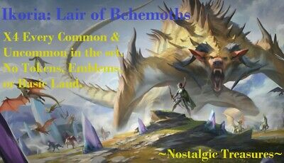 4x Complete Common//Uncommon Set x4 MTG Ikoria Lair of Behemoths NEVER PLAYED