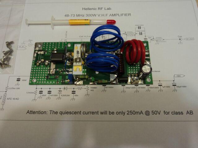 48-73 MHZ POWER AMPLIFIER PALLET 300 WATTS CLASS AB SSB-FM for HAM applications