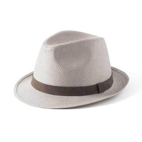 Failsworth Hats Straw Trilby Hat Dove Grey