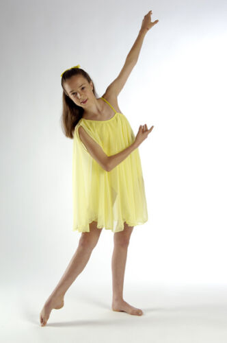 IN STOCK Elegant BROWN Lyrical Greek Chiffon Dance Costume 3A Child Large
