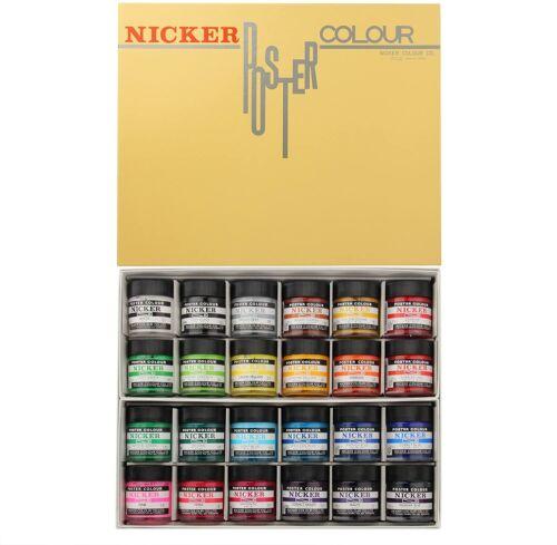 NICKER Knicker poster color in bottle 24 color set japan import PCB24