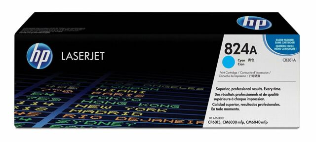 Genuine HP Cyan Color 824A Toner Cartridge CB381A Colour Laserjet 6015 CM6040