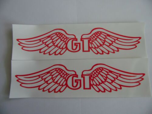 """GT wings 5/""""x1.5/""""Vinyl decal weather proof 2 bike stickers many colors"""