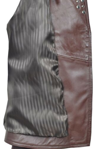Luxury Ladies Leather Jacket Brown Real Italian Nappa Leather Biker Style Design