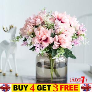 Soie Artificielle Bouquet Fleurs Décor De Noce Maison Pivoine Faux Rose Bouquet