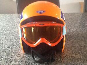 Uvex Ski Helmet - Orange and Blue - with Uvex Racer Goggles