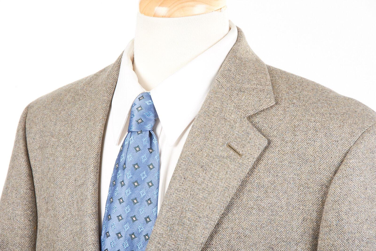Uomo ANDOVER SHOP Sport marrone Coat 44 L in Cinnamon marrone Sport Herringbone Wool Tweed dd1c5e