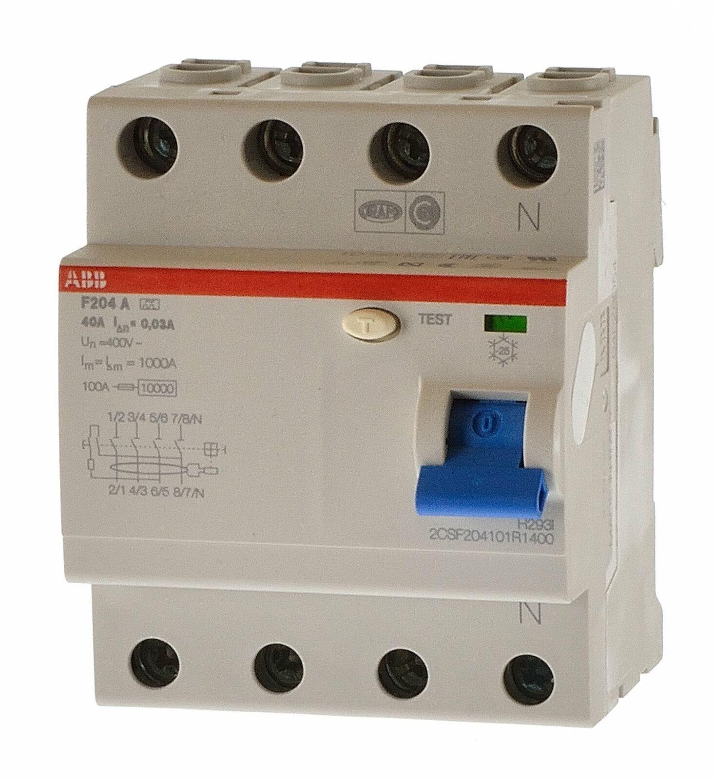 ABB F204 A-63  0,3 Fehlerstromschutzschalter  2CSF204101R3630