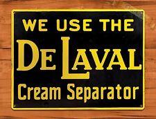 "TIN-UPS TIN SIGN ""De Laval Cream Seperator"" Farm Oil Garage Vintage Wall Decor"