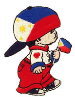 Philippines Little Boy Country Flag Iron-on Patch Crest Badge Size : 3 X 2 Inch