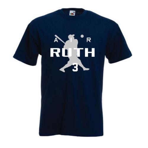 "Babe Ruth New York Yankees /""Air Ruth/"" jersey T-shirt  S-5XL"