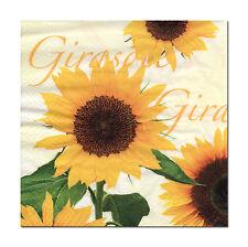 4 Motivservietten Napkins Tovaglioli Servietten Blumen Sonnenblumen (371)