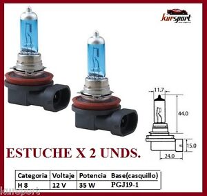 2-X-Lamparas-de-recambio-H8-35-W-tipo-xenon-HID-luz-blanca-luces-H8-faros