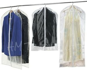 2-x-Garment-Suit-Dress-Clothes-Coat-Jacket-Clothing-Cover-Travel-Bag-Carrier-Zip