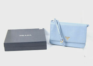 195a427d7a2fe Details about AUTHENTIC Prada Lux Saffiano Crossbody bag/Wallet WOC in  Lavender w/box