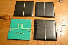 4 piezas de panel solar policristalino Mini 1V 440ma 0.44 vatios