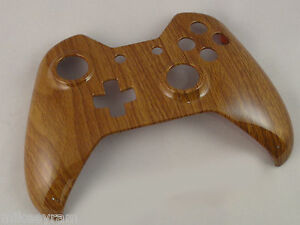 Details about Wooden Grain Hydro Dipped, Front Shell For Xbox One  Controller - New