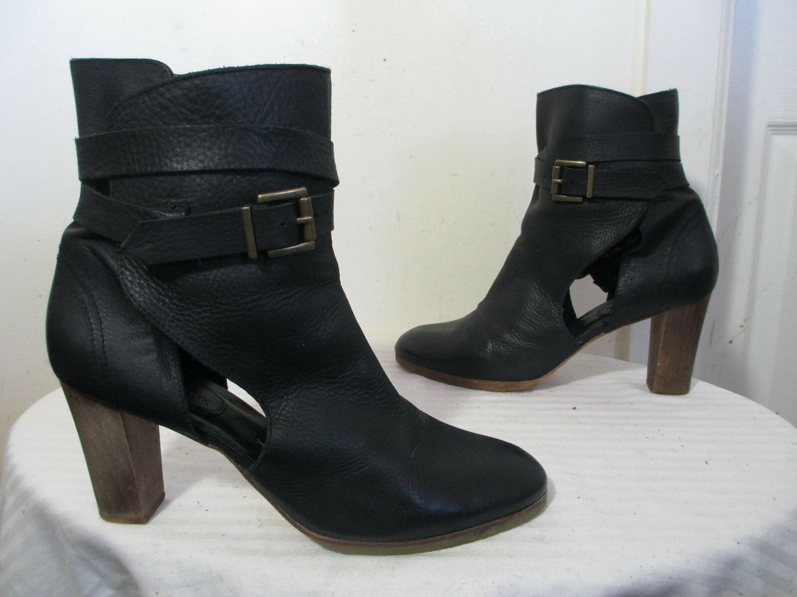 ATHE VANESSA BRUNO nero HEEL avvioIES 41 US 10 MADE  IN ITALIA  outlet